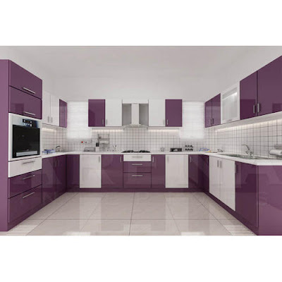 latest modular purple kitchen cabinets design ideas for modern home interiors 2019