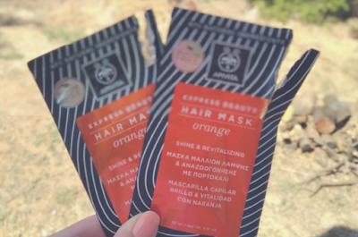 APIVITA hair mask with orange