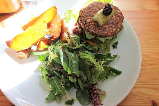 Wild food cafe vegan burger