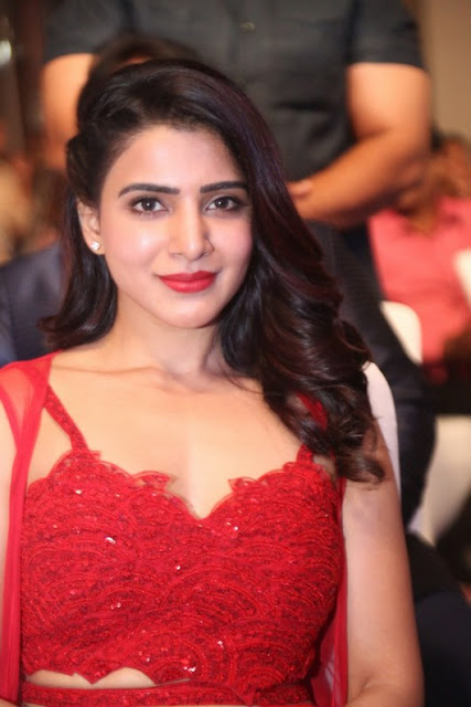 Samantha Akkineni Latest Cute Photos In Red Dress Actress Trend