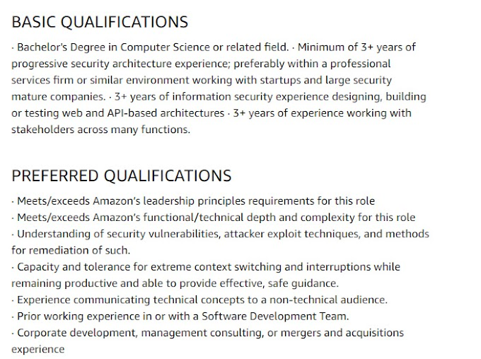 Amazon Work for Home Jobs for Systems Security Engineer