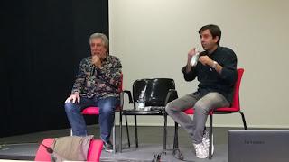 Jordi Sierra i Fabra con David Lozano en la ARC 2017