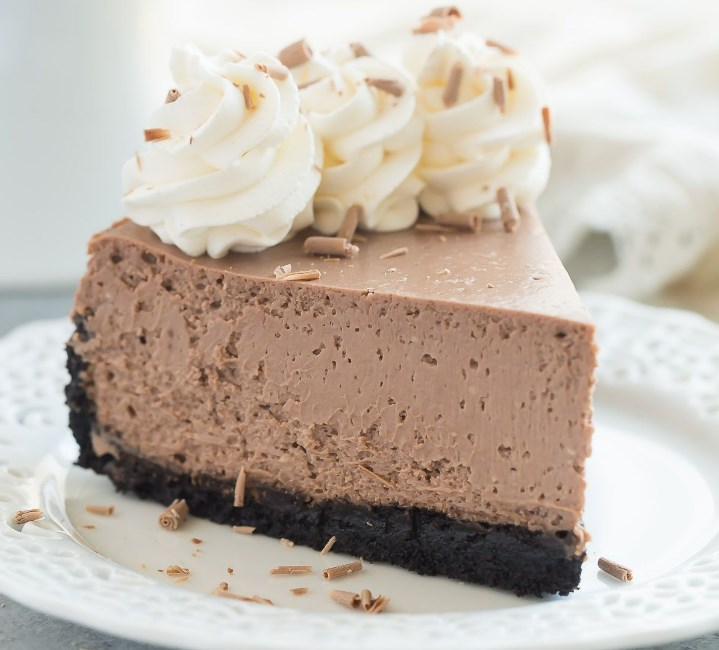 The BEST Chocolate Cheesecake #cake #desserts