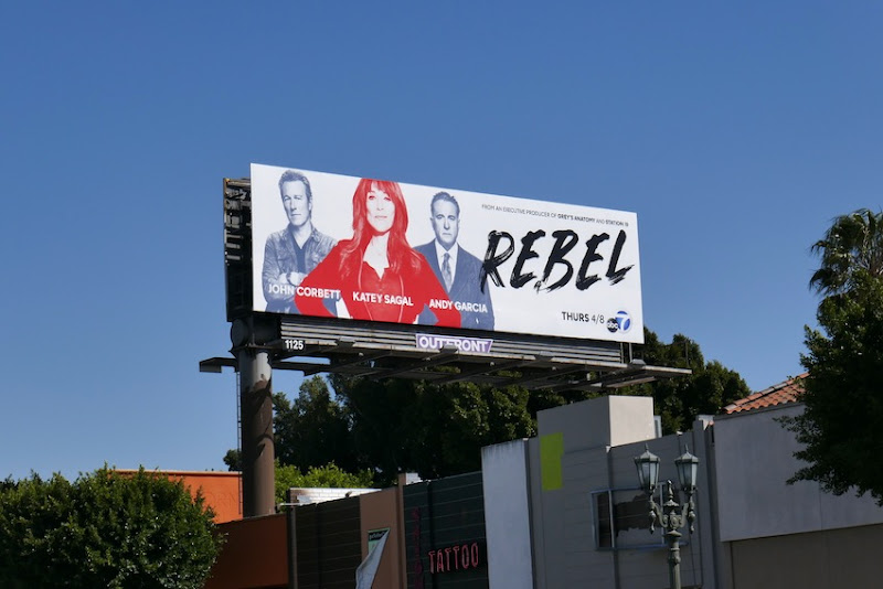Rebel TV series billboard
