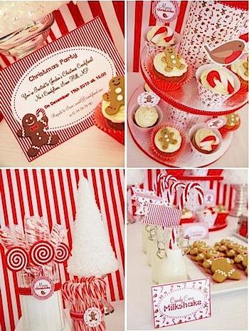 dekorasi natal ala candyland pada pesta kecil di rumah
