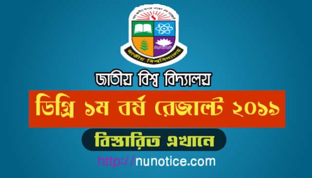 Degree 1st year result 2019