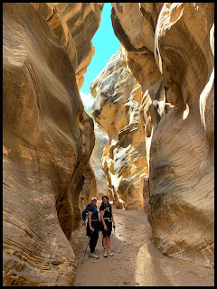 My Hiking buddy and myself in Willis Creek Slot Canyon