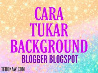 cara tukar background post title blog