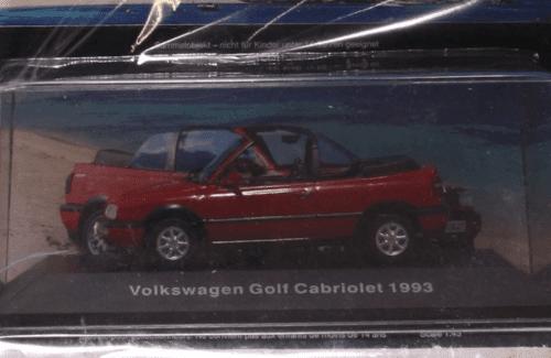 volkswagen golf cabriolet 1993 deagostini, volkswagen golf cabriolet 1993 1:43, volkswagen golf cabriolet 1993, volkswagen offizielle modell sammlung, vw offizielle modell sammlung
