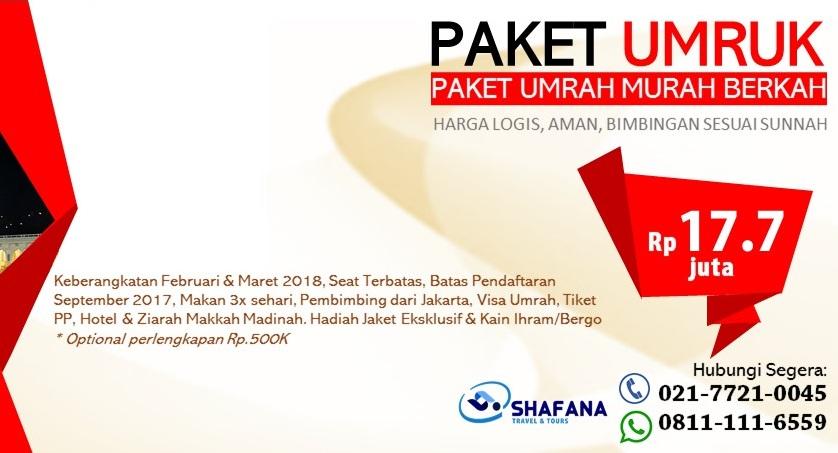 Paket Umroh Murah 2018 Januari Februari Maret