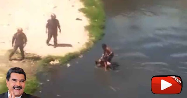 Recogelatas rescató un cadáver del Río Guaire frente a varios bomberos