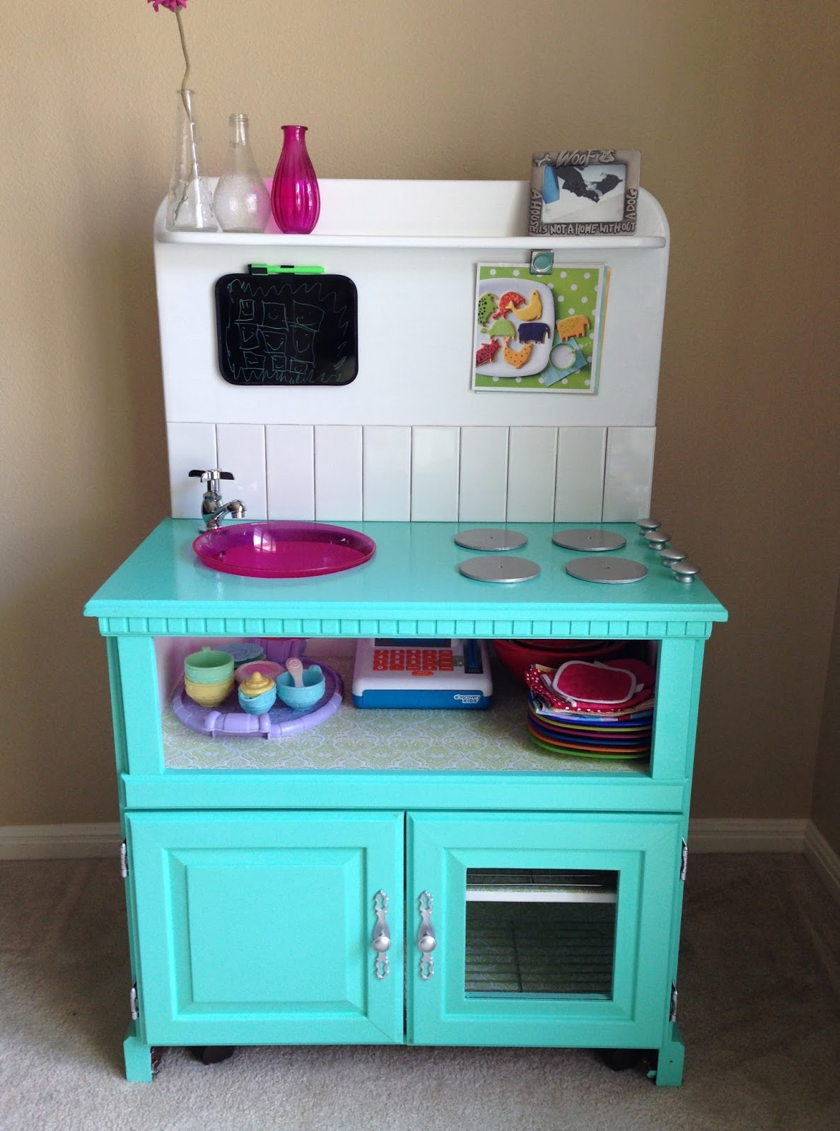 Probably That Mom Finally The Diy Play Kitchen Is Done