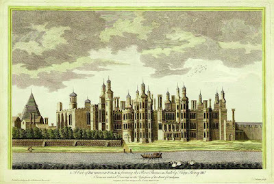 An 18th century drawing of the Palace of Richmond