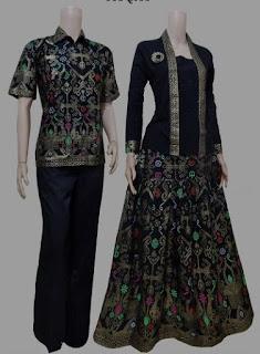 Model baju batik couple motif keren