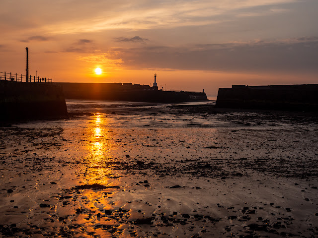 Photo of Maryport Basin as the sun goes down
