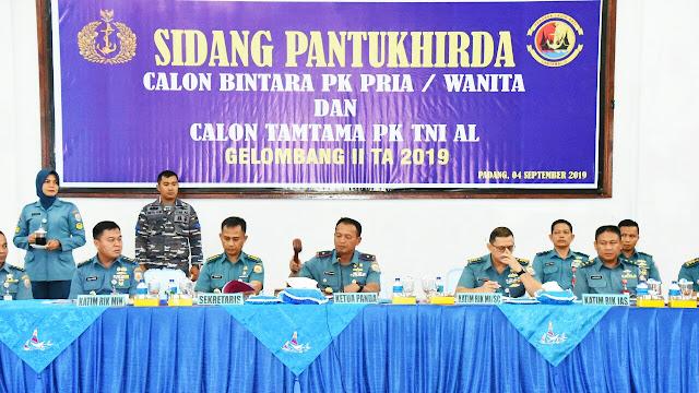 Sidang Pantukhirda Calon Prajurit TNI AL Panda Padang