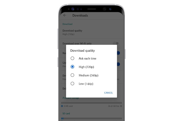 Customize The Video Download Quality