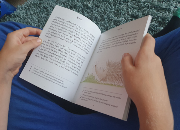 Spikey the Hedgehog being read