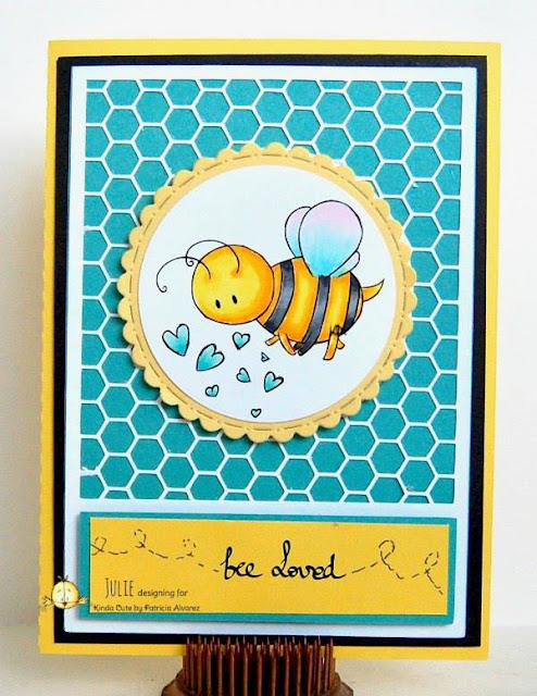 card using honey bee digital stamp from kindacutebypatricia