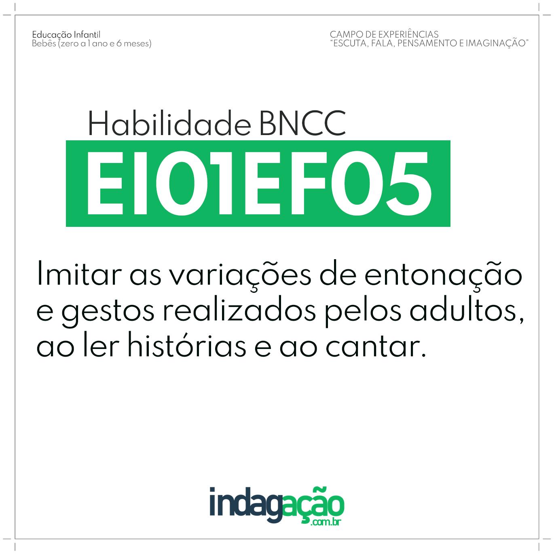 Habilidade EI01EF05 BNCC