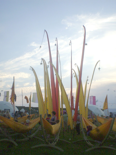 camp bestival hammocks