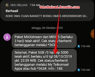 OMG 5gb sukses omz reload armaila