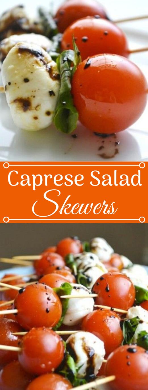 CAPRESE SALAD SKEWERS #healthydiet #salad #food #recipes #lowcarb