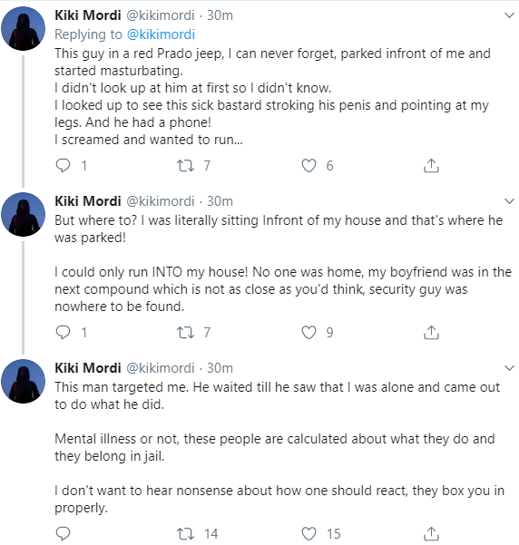 BBC reporter Kiki Mordi recounts how the man intentionally masturbated in front of her
