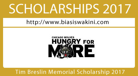 Tim Breslin Memorial Scholarship 2017