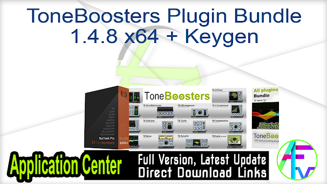 ToneBoosters Plugin Bundle 1.4.8 x64 + Keygen