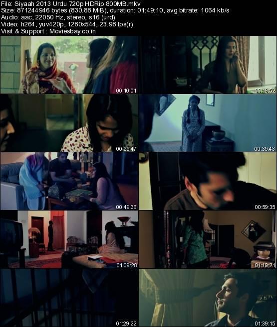 Siyaah 2013 Urdu 720p HDRip 800MB