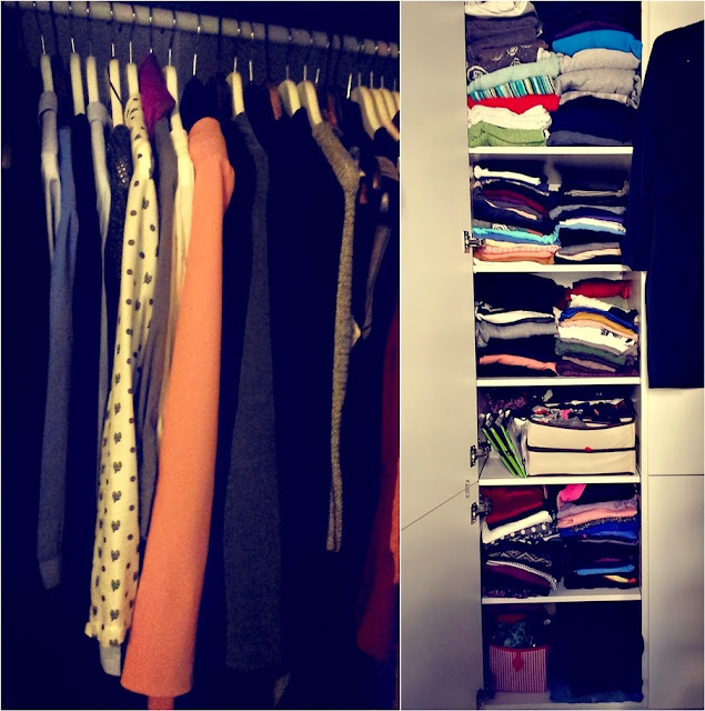 A tidy and organized wardrobe after sorting out
