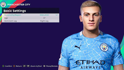PES 2021 Faces Liam Delap by Rachmad ABs