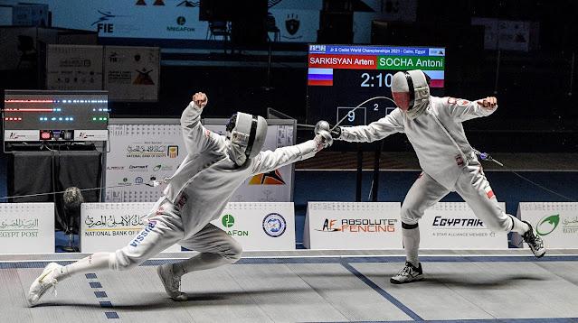 Antoni Socha Artem Sarkisyan Esgrima Fencing Russia Polônia Polska Poland