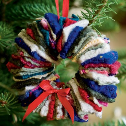 A Felted Wreath | Homemade Christmas Wreaths