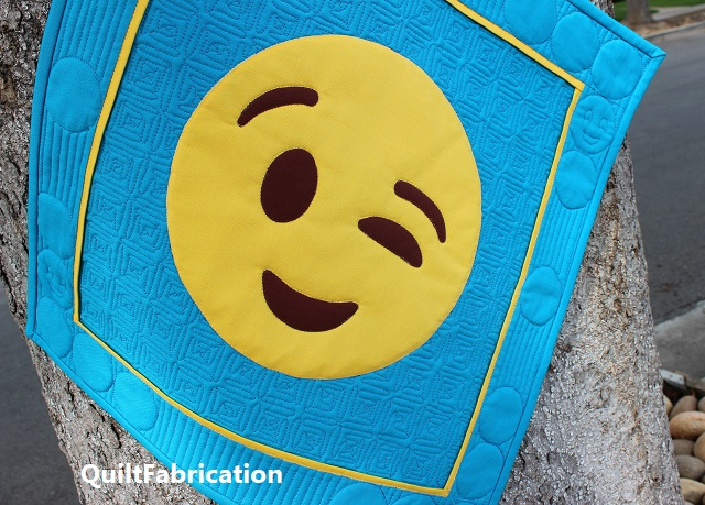 Lookin' Good! Emoji quilt by QuiltFabrication