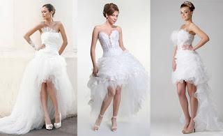 imagens de vestidos de noiva curtos mullet