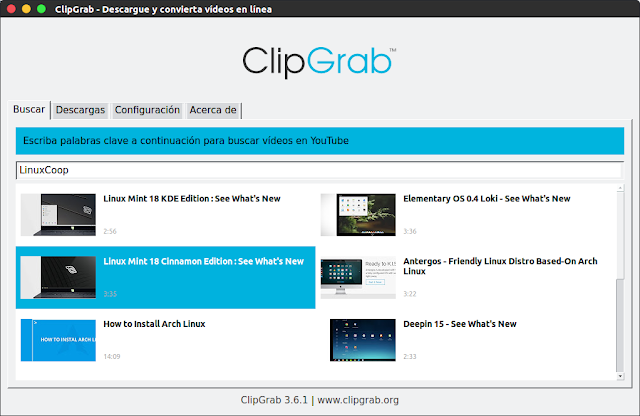 ClipGrab también busca vídeos para descargarlos - El Blog de HiiARA