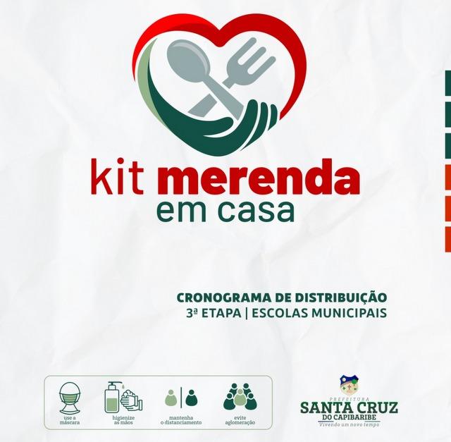 Prefeitura de Santa Cruz inicia nova etapa de entregas do Kit-Merenda nesta segunda-feira (7)