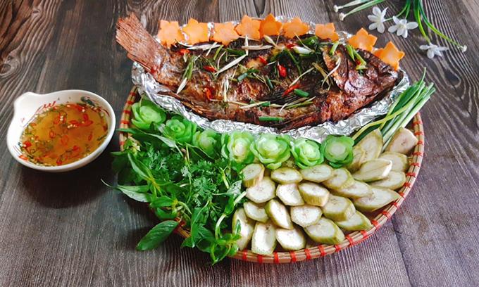 Cá nướng riềng mẻ - món ngon cuối tuần