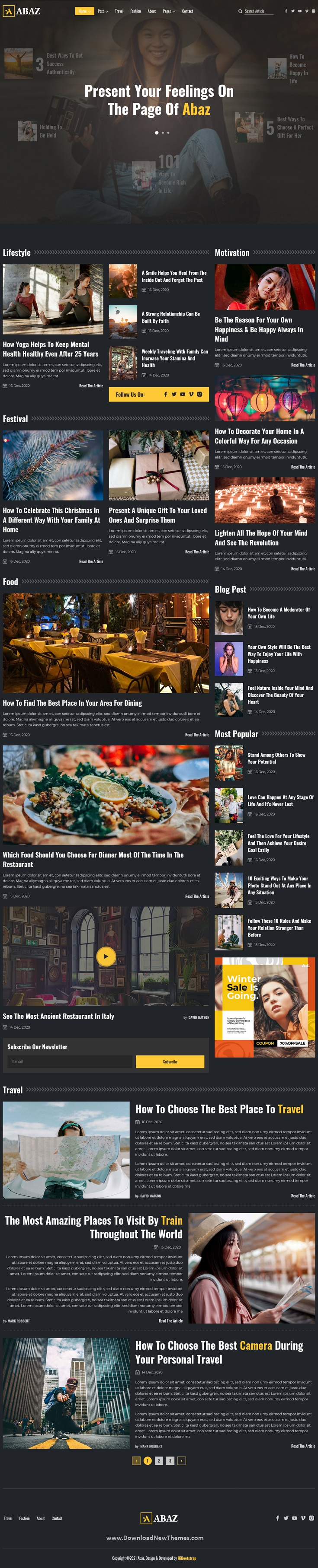 Magazine and Blog HTML Responsive Template