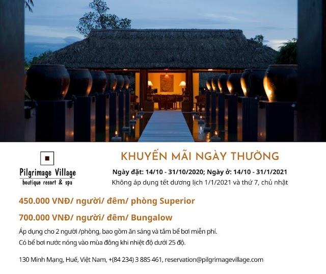 Pilgrimage Village- boutique resort& spa khuyến mãi đặt phòng