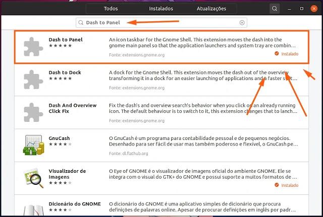extension-extensão-gnome-shell-barra-tarefas-windows-kde-cinnamon-dash-to-panel-ubuntu-fedora-install-gnome-software-loja