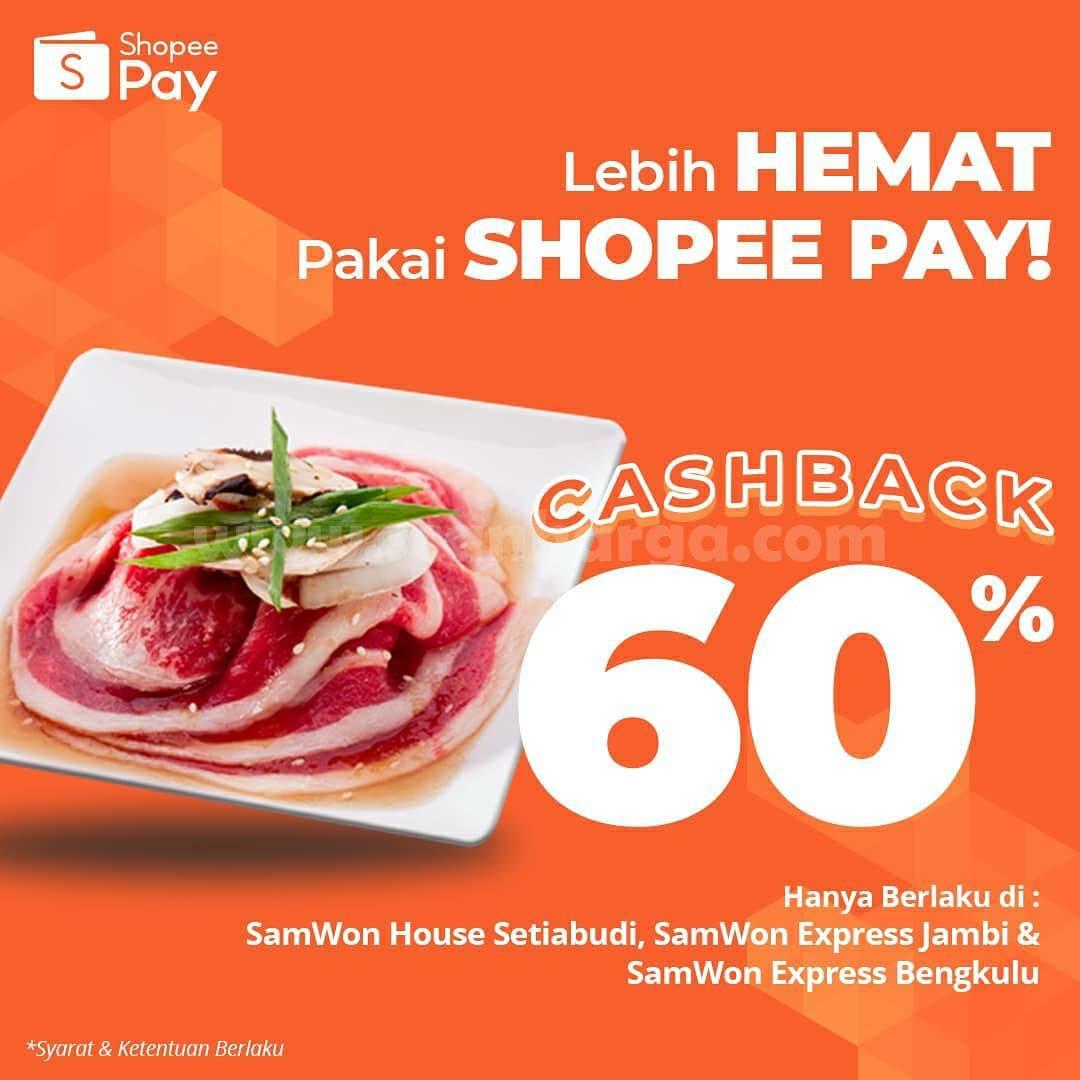 Promo Samwon Group Cashback 60% dengan ShopeePay