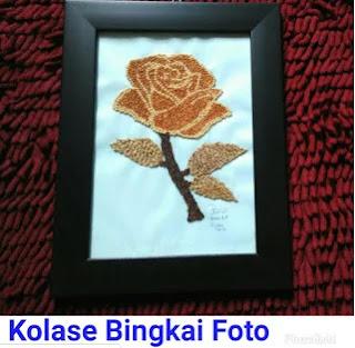 Contoh Gambar Kolase BIngkai Foto Bunga