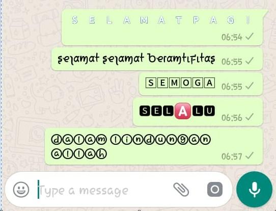 Cara Membuat Tulisan Warna Dengan Font Keren Di Whatsapp