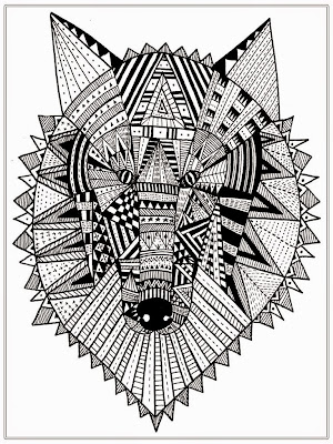 Wolf Head Adult Coloring Pages Free