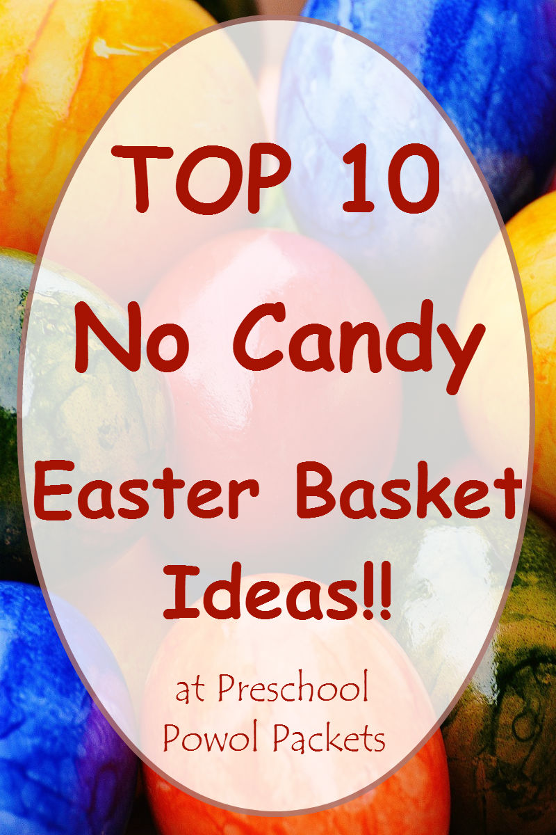 Top 10 no candy themed easter basket ideas preschool powol packets top 10 no candy themed easter basket ideas negle Images