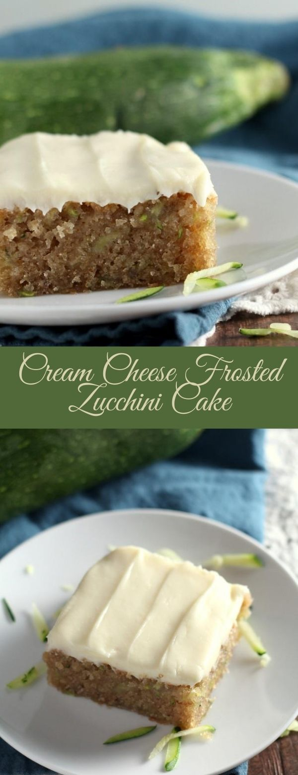Cream Cheese Frosted Zucchini Cake