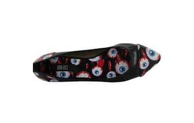 Iron Fist Eyeball Black Pointy Flats